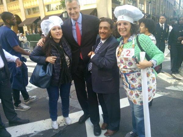 Mariangela Petruzzelli con il Sindaco di New York De BlasioMariangela Petruzzelli con il Sindaco di New York De Blasio